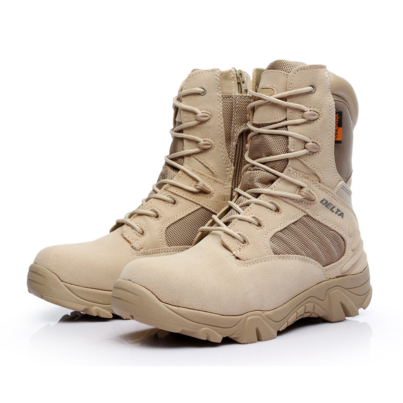Delta Hight-top Desert Boots Combat Boots Army Fans Tactical Boots Outdoor Hiking Boots Manufacturers Wholesale