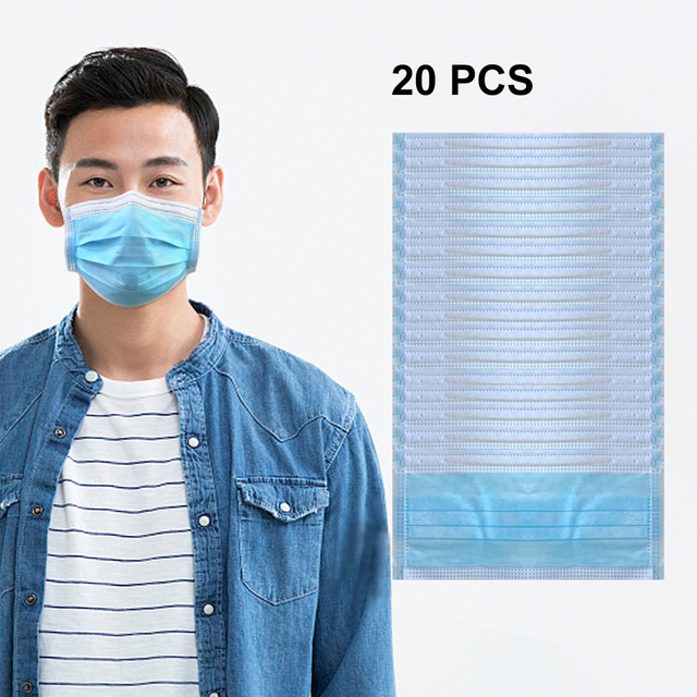 Medical Surgical Disposable Mask 95% Meltblown Cloth Filter Protective Anti Flu Anti Infection Respirator Dust Earloop Face Mask 5