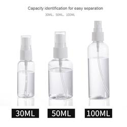 1Pcs Travel Transparent Empty Spray Bottles 30ml/50ml/100ml Portable Refillable Bottle Cosmetic Hand Sanitizer Alcohol Dispenser