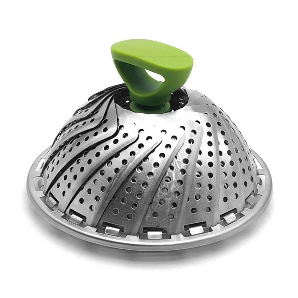 Stainless Steel Steamer Steam Basket Vegetable Folding Steamer Basket Folding Steam Rack Insert Cook Microwave Kitchen Tools