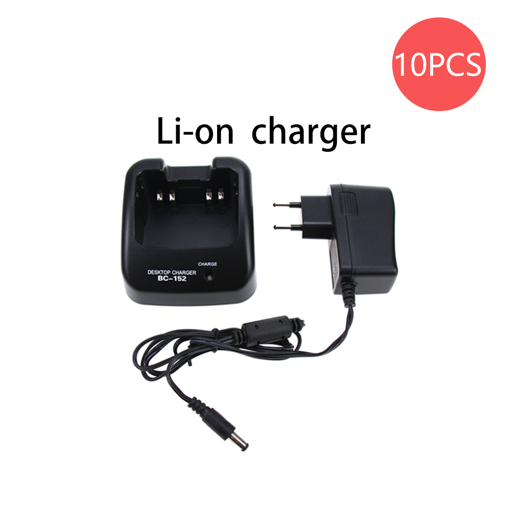 10Pcs BC-152 Rapid Quick Li-ion Battery Charger For ICOM F3101 F3011 M88 T70 F60V F60 F50V F50 A14 Radio