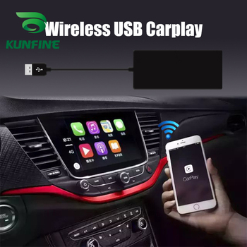 KUNFINE Wireless Apple CarPlay Dongle for Android Car stereo Unit USB Carplay Stick with Android AUTO Carplay Adapter