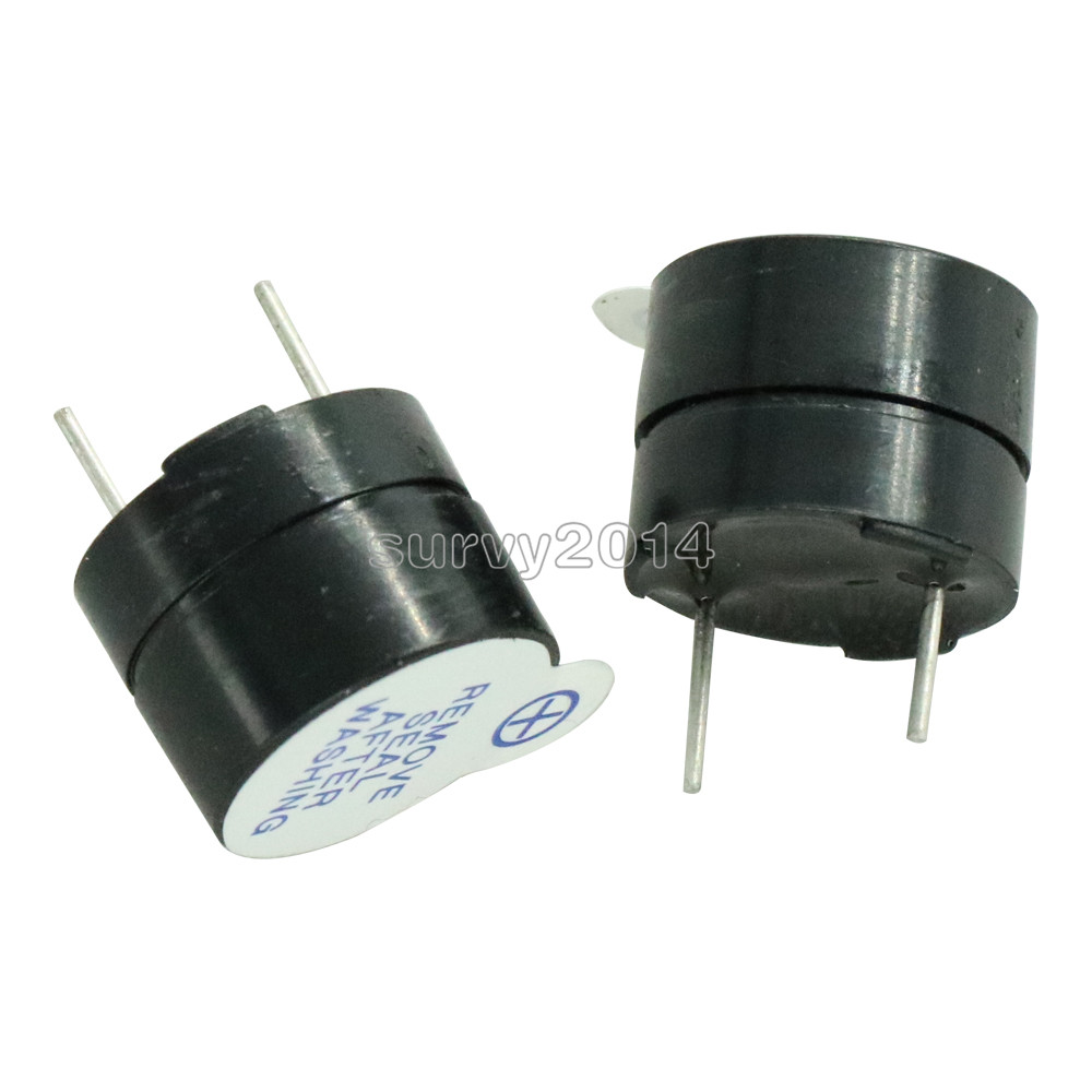 2PCS NEW 5V Active Alarm Buzzer Beeper 9*5.5mm 5 V Mini Active Piezo Buzzer Fit For Arduino Diy Electronic Buzzers 0905