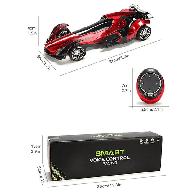 2020 New 2.4G Intelligent Speech RC Car Voice Watch Remote Control Off-road Racing Car High Speed Drift Vehicle Toy Gift for Boy 6