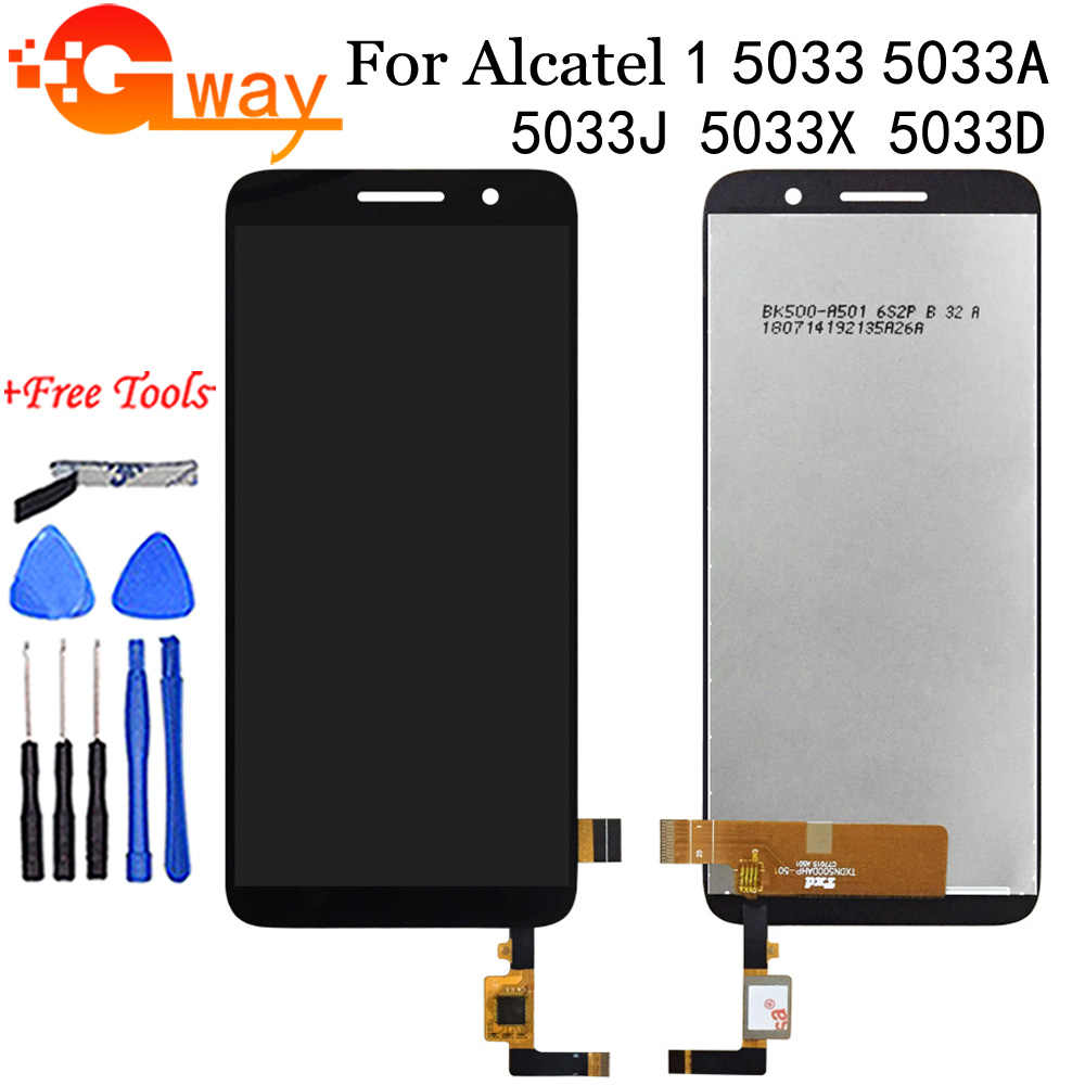 "5,0 ""Für Alcatel 1 5033 5033A 5033J 5033X 5033D 5033T Monitor LCD Display Touchscreen Digitizer Montage + kostenlose Tools"