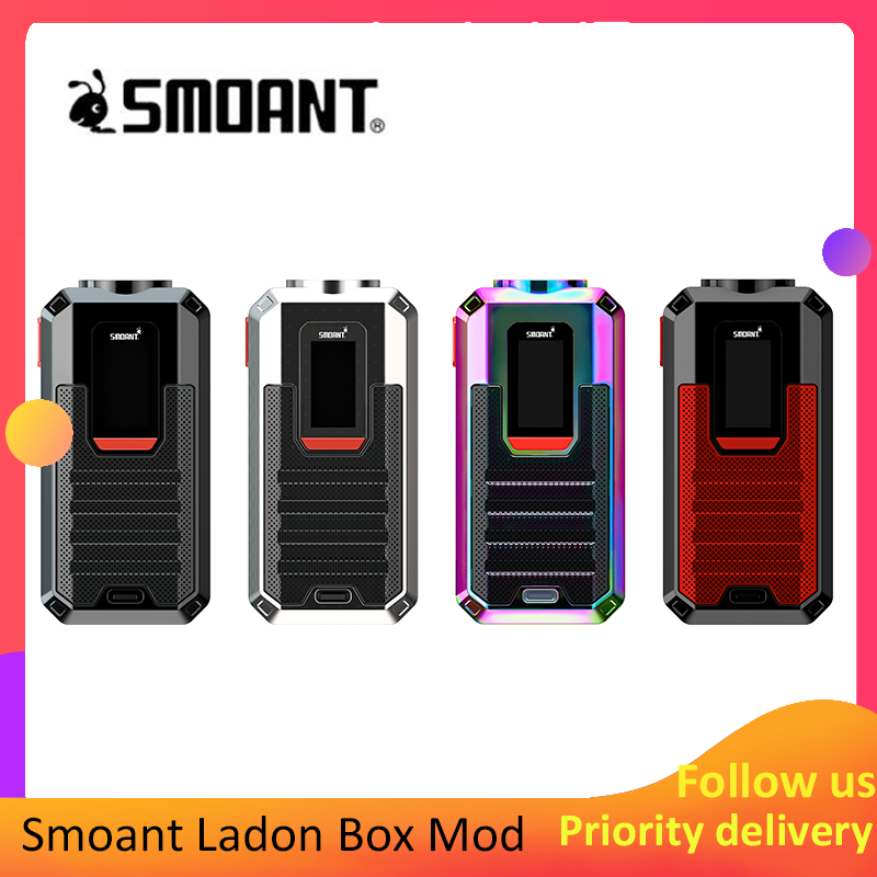 Original Smoant Ladon Mod Vape 225W TC Box Mod Fit 18650 Battery Supports Ladon AIO 2in1 Tank Electronic Cigarette Vaporizer Mod