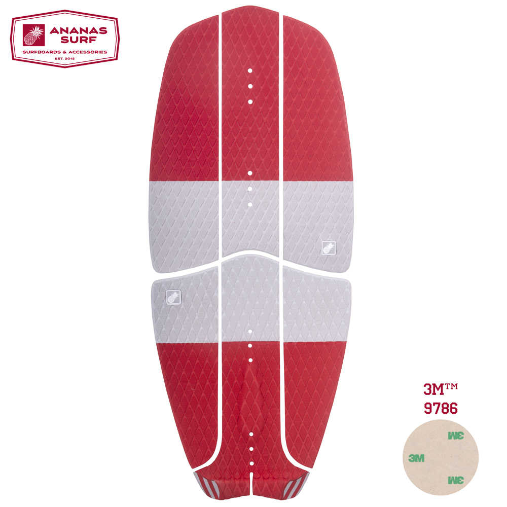 4x Non-slip EVA Traction Pad Tail Pad for Surf Surfboard Kiteboard Trimmable
