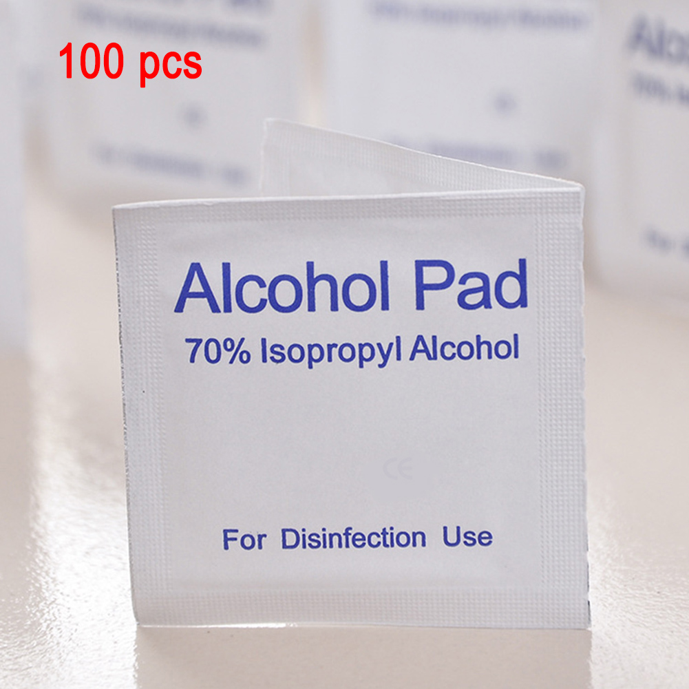 Disposable Alcohol Pads Alcohol Wipes Sterilization Nail Cleaning First Aid Cleanser Household Health &1