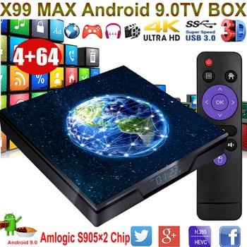 XGODY X99MAX TV Box Amlogic S905X2 Quad-Core 64bit Wifi Bluetooth 4k HD HDMI 2.0 Android 9.0 Media Box 4GB 32GB Set Top Box