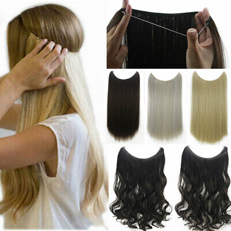 WERD 24 Inch Pony Tail Hair Extension Long Straight Hair Ladies Hair Clip High Temperature Synthetic Hair Extension