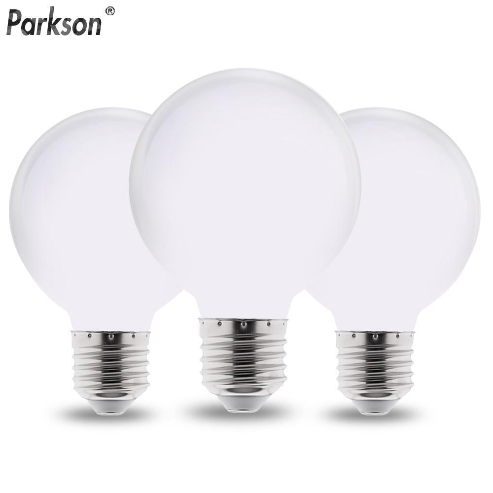 Lampada Milky E27 LED Light Bulb AC 220V 110V G80 G95 G125 Ampoule Bombilla LED Bulb Lamp For Home Chandelier Table Lamp
