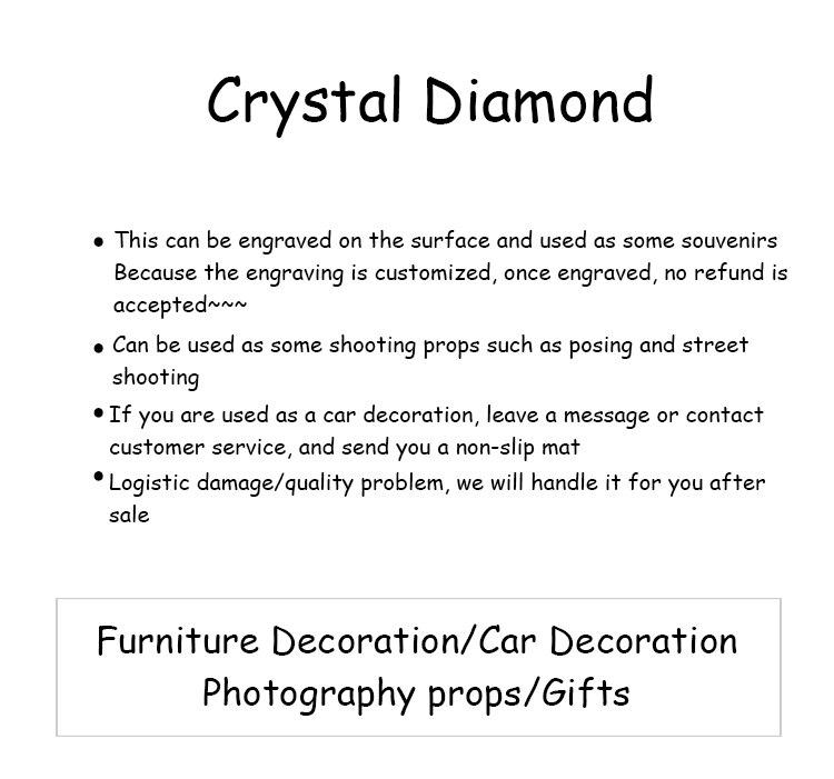 cristal grande diamante proposta romântica casa decoração