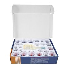 Chinese Health Care Vacuum Body Cupping Set 24Pcs Massage Cans Cup Biomagnetic Massage Therapy Body Relaxation Kit