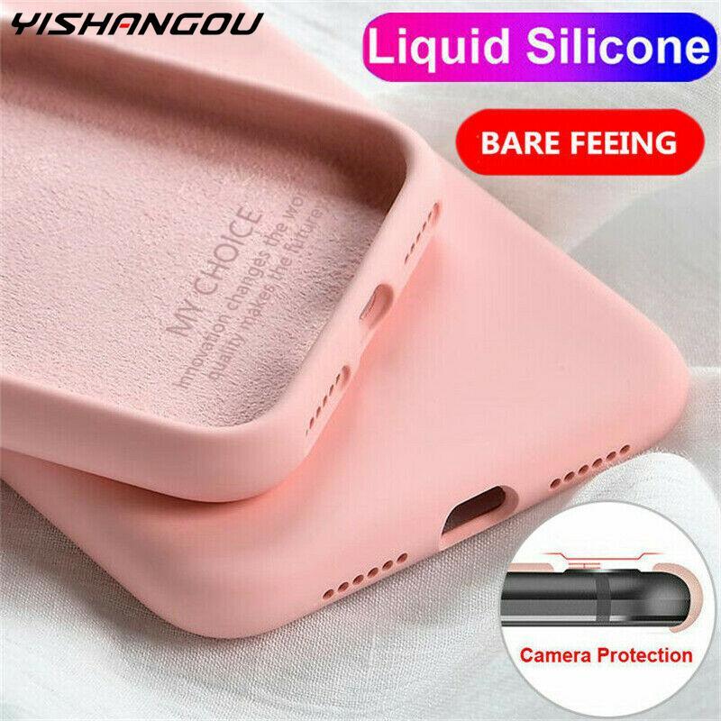 Liquid Silicone Case For Xiaomi Mi Note 10 Pro 9 SE 9T Pro A3 A2 Lite Slim Soft Cover For Xiaomi Redmi Note 8 Pro 7 8T 7A 8A K30