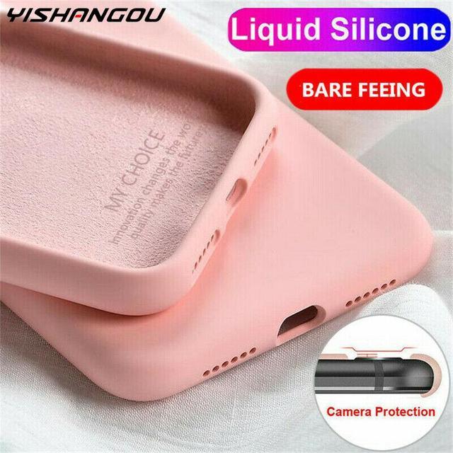 Liquid Silicone Case For Xiaomi Mi Note 10 Pro 9 SE 9T Pro A3 A2 Lite Slim Soft Cover For Xiaomi Redmi Note 9s 8 Pro 7 8T 7A 8A