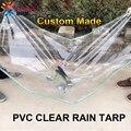 Tewango сверхмощный дождевой брезент 0 3 мм утолщенный прозрачный ПВХ дождевик балкон суккулентные растения укрытие мягкий материал
