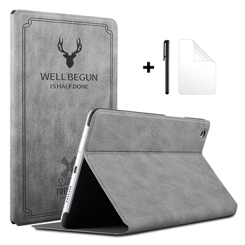 Case for Huawei MediaPad M5 Lite 10.1 BAH2-W19/L09/W09 Tablet Funda Retro Flip Stand PU Leather Cover for Huawei M5 Lite 10 Case