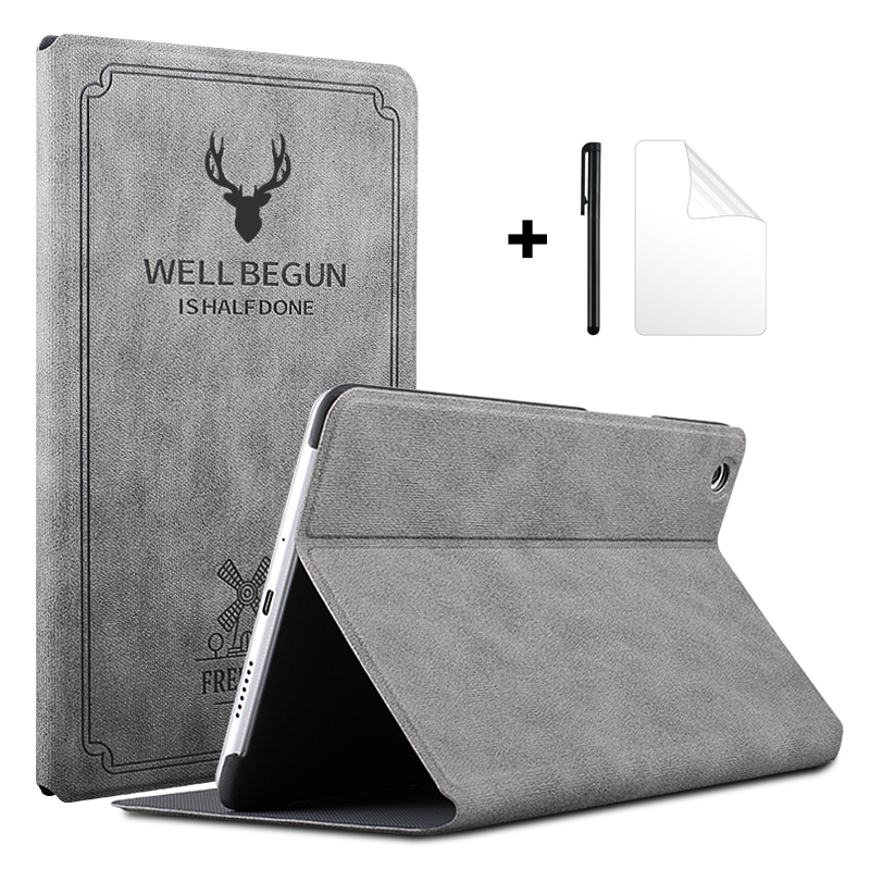 """Case for Huawei MediaPad M5 Lite 8 JDN2 W09/AL00 8.0"""" Slim Flip Stand Cover PU Leather Case for Huawei Honor T5 8.0 Tablet Funda