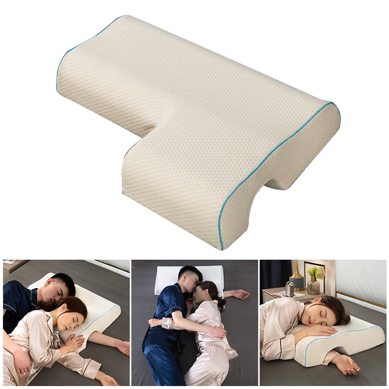 Couples Pillow Arched Cuddle Pillow With Slow Rebound Memory Foam For Arm Rest Hand Pillow HYD88