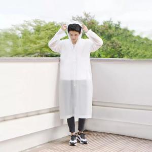 Image 4 - Xiaomi Raincoat and Waterproof Hooded EVA Rain Jacket Poncho Outside Hiking Rainwear Uniform code Women Men Waterproof Rainwear