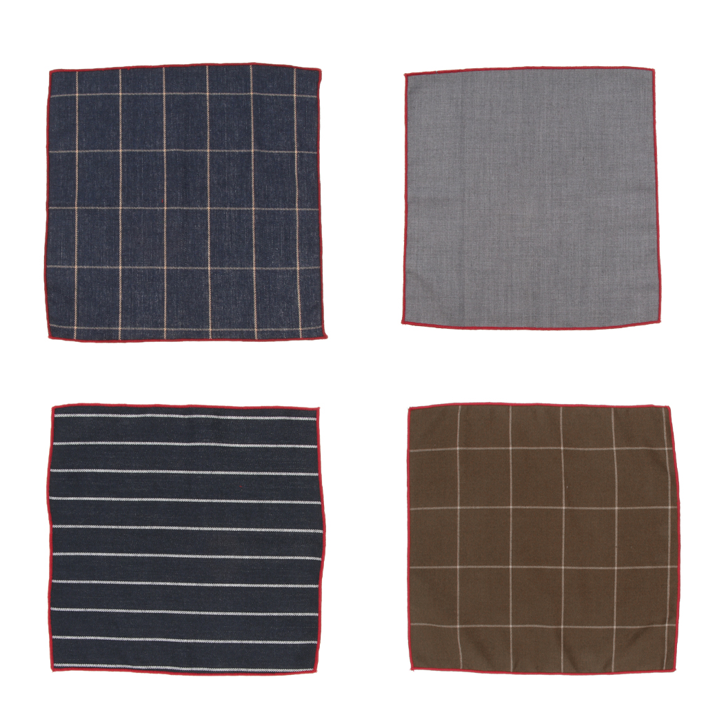 Cotton Plaids Checks Handkerchiefs Pocket Square Hanky For Men Women