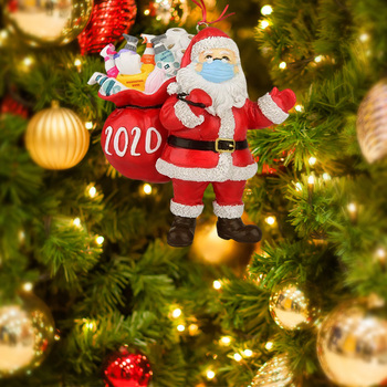 3D Resin Claus Gift 2020 Christmas Ornament Pendant Family Gift Decoration Party Decoration Xmas Tree Ornament image