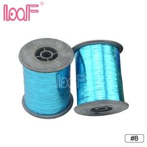 Image 2 - レーフ 100 ロール 2000 メートル (78740 インチ)/ロール、色見掛け倒し適用毛のアタッチメント、最低価格の毛編組延長