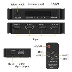 Image 3 - חדש 4K HDMI 2.0 Switcher מתג ספליטר 4 ב 1 מתוך 4K 60Hz HDR hdmi switcher HDCP 2.2 שלט רחוק עבור PS4 פרו DVD, xbox
