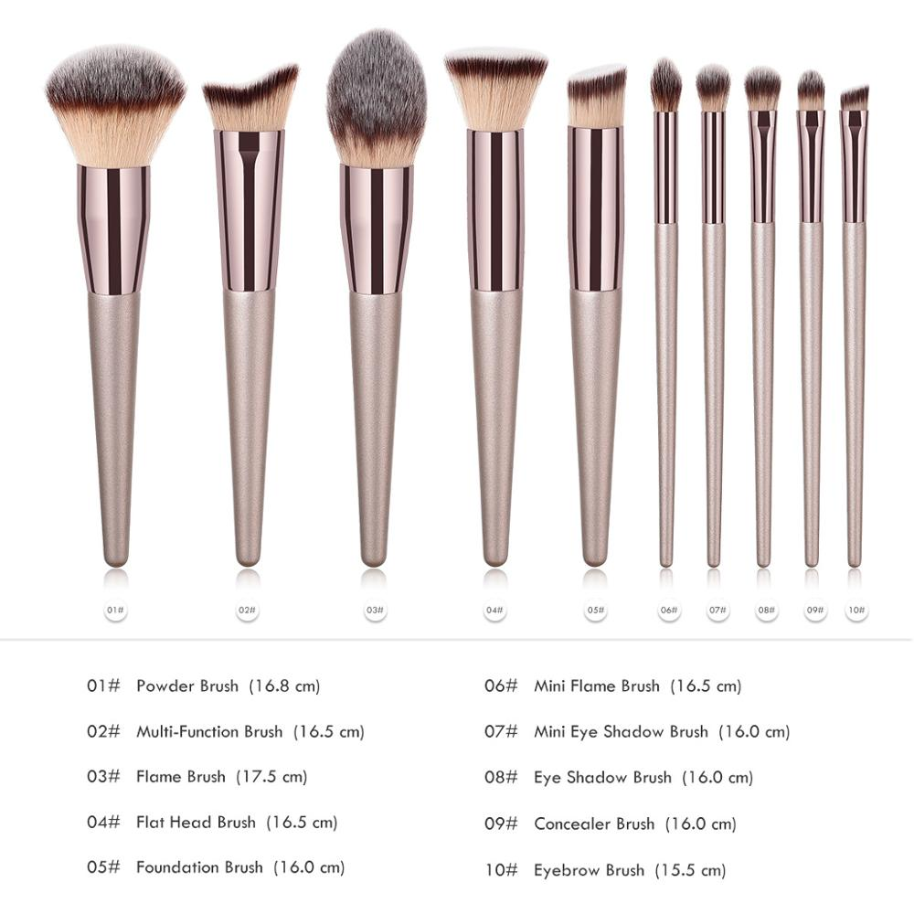 Image 5 - BBL 1 Piece Champagne Gold Precision Liquid Foundation Brush Perfect Pro Tapered Buffing Sculpting Angled Makeup Brushes Tools-in Eye Shadow Applicator from Beauty & Health