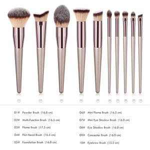 Image 5 - BBL 1 Piece Champagne Gold Precision Liquid Foundation Brush Perfect Pro Tapered Buffing Sculpting Angled Makeup Brushes Tools