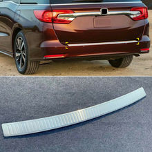 Для Honda Odyssey- из нержавеющей стали задний бампер защитная пластина багажника