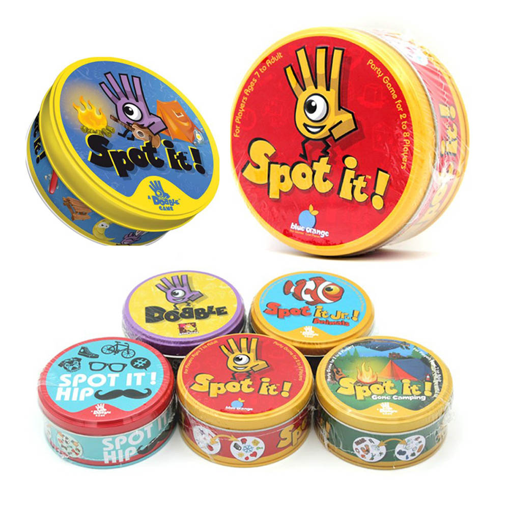 Spot It Animals Camping Card Game Alphabet Board Games Holidays Sports Dobble Game English Game Party Family Playing Games Cards