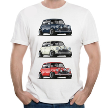 Retro THE ITALIAN TRIO Mini Cooper T Shirt Popular Car Hipster Style T-shirt