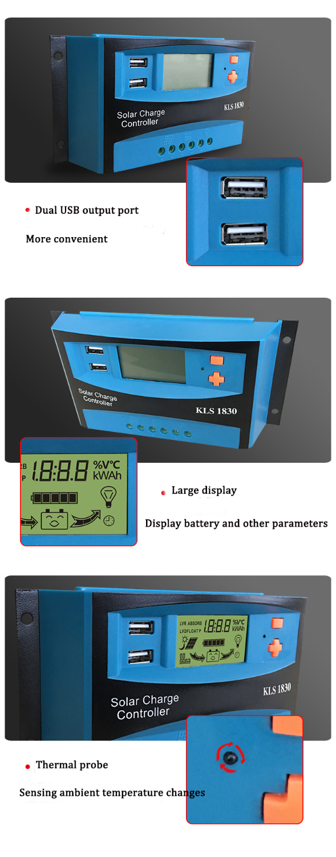 Kulon saída USB Duplo display LCD PWM