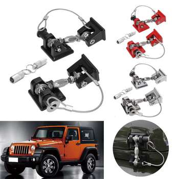 New Pair Car Engine Hood Catch Lock Kit Latches Catch Locking Anti-Theft Buckle For Jeep For Wrangler JK 2007-2017
