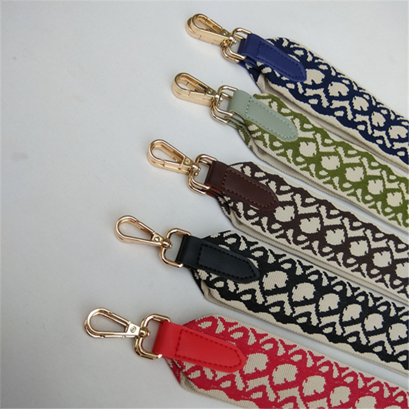 Luxury Shoulder Bag Strap Handle Colorful Letter Ethnic Style Wide Shoulder Belts Replacement Shoulder Hanger Handbag Straps