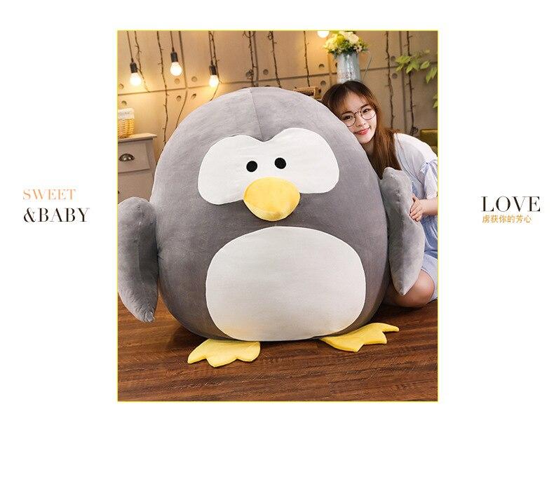 Nouveau design dessin animé pingouin en peluche jouet énorme 100x90cm gros pingouin doux poupée oreiller de couchage cadeau de noël b1809