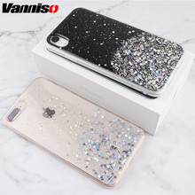 Glitter Bling Sequins Case For iphone XS MAX XR 8 7 6s cases Moon Planet soft cover for X Plus Crystal Stars