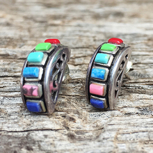 Pendientes de arcoíris Vintage, pendientes de medio círculo, pendientes para hombres y mujeres, pendientes Bijoux, joyería de moda, Brincos, regalos O5D383