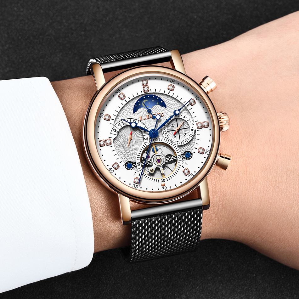 H86b99ec8ad984ce299a70fc81c33aa35I LIGE Gift Mens Watches Brand Luxury Fashion Tourbillon Automatic Mechanical Watch Men Stainless Steel watch Relogio Masculino