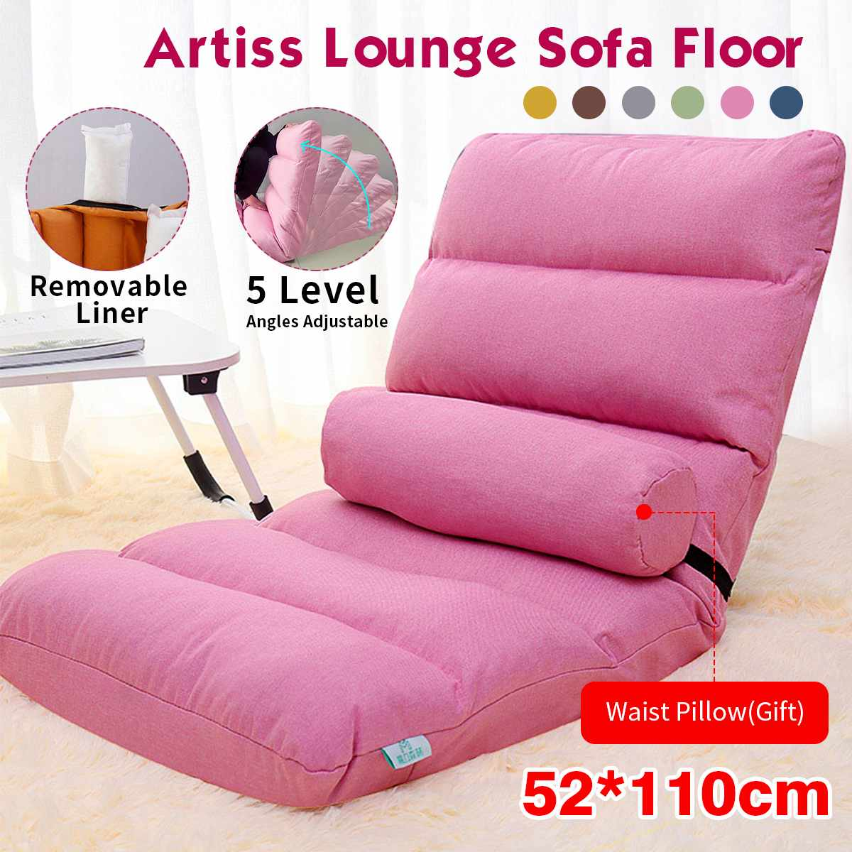 With Filling Lazy Sofa Couch Tatami Bean Bag  Folding Single Chair Pouf Puff Couch Tatami Floor Chair Sofa For Bedroom Balcony