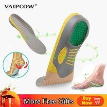 VAIPCOW – semelles orthopédiques en PVC EVA, orthèses de pied plat pour chaussures, coussinet de soutien de la voûte plantaire pour la fasciite plantaire