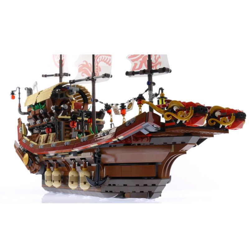 Nuovo Lepinblocks 06057 Ninja Serie Nave Compatibile 70618 Destiny Bounty Barca Mattoni da Costruzione Giocattoli Educativi Per Bambini Regali