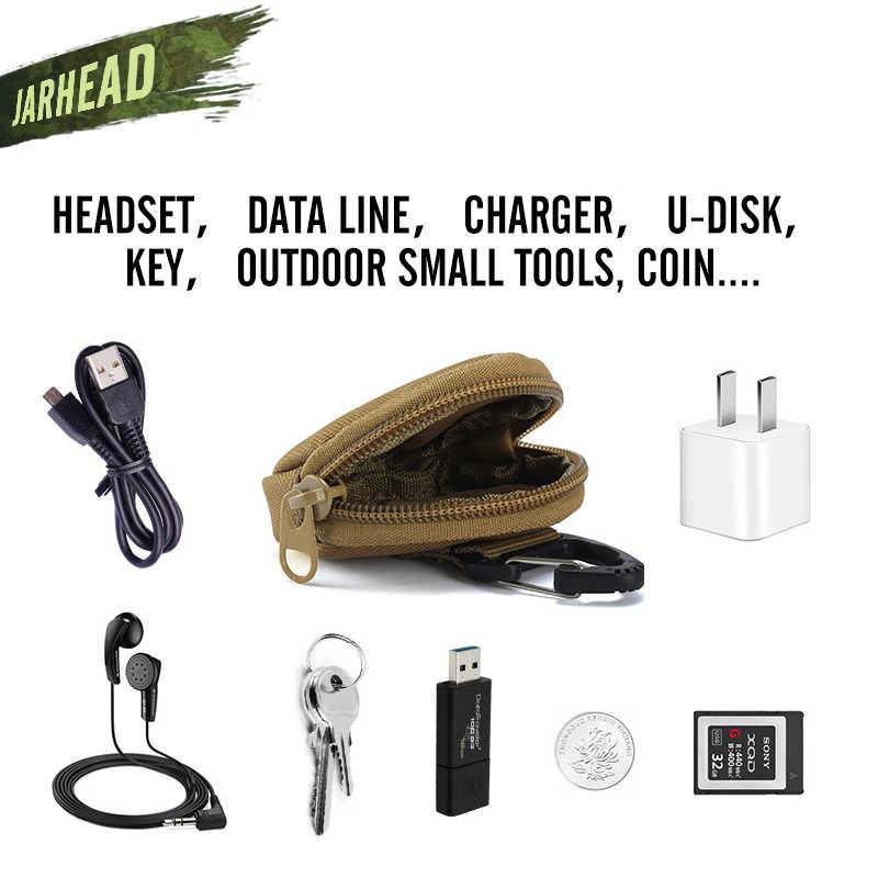 Nylon Outdoor Runde Münze Tasche Headset Tasche Kleine MOLLE Tasche Schlüssel Fall Für Rucksack Gürtel Weste Zubehör