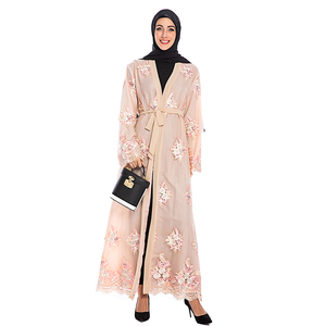 Floral Cardigan Open Abaya Kimono Hijab Muslim Dress Women Turkey Islamic Clothing Abayas Moroccan Kaftan Long Robe Dubai Burka