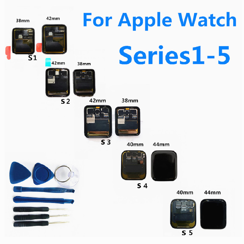 For Apple Watch Series 3 Series 4 Series 5 LCD Display Touch Screen Assembly For iWatch4 Original LCD Screen For iWatch1 iWatch2 image