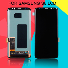 Dinamico Amoled G950F Lcd For Samsung Galaxy S8 Lcd G950 Display Touch Screen Digitizer Assembly Free Shipping With Tools ll trader black lcd display for samsung galaxy mega 6 3 i9200 touch screen digitizer bezel frame assembly tools free shipping