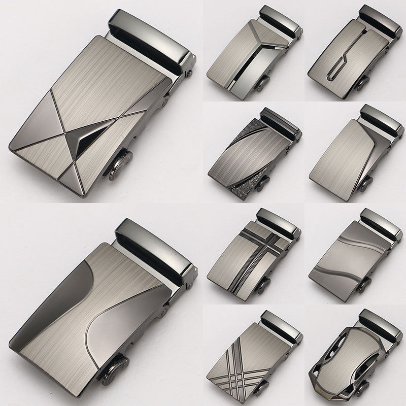 New Gift 11 Style Belt Buckle Boutique Laser Technology Alloy Metal Automatic Belt Buckle Limited Fit Belt Geometric Buckle Car