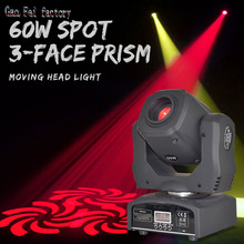 DMX 512 Stage-Light Moving-Head Lyre Led-Spot Gobos Disco Party 3-Face-Prism Colors 60W
