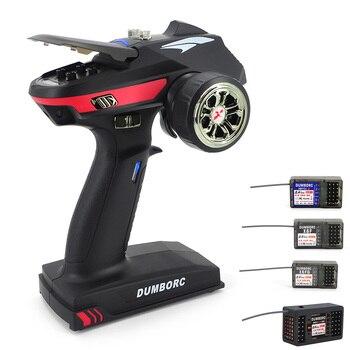 DumboRC X6A 2.4G 6CH Resposta Super Sistema de Rádio Transmissor com X6F/X6FG/X6DC Receptor Para O Carro Do RC barco da Água Do Tanque de skate
